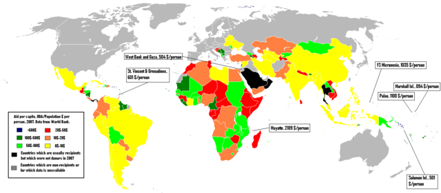 640px-Aid_recipients._$_per_capita,_2007 from Wikimedia