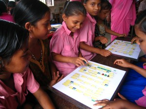 Learning games in a Bangladeshi classroom